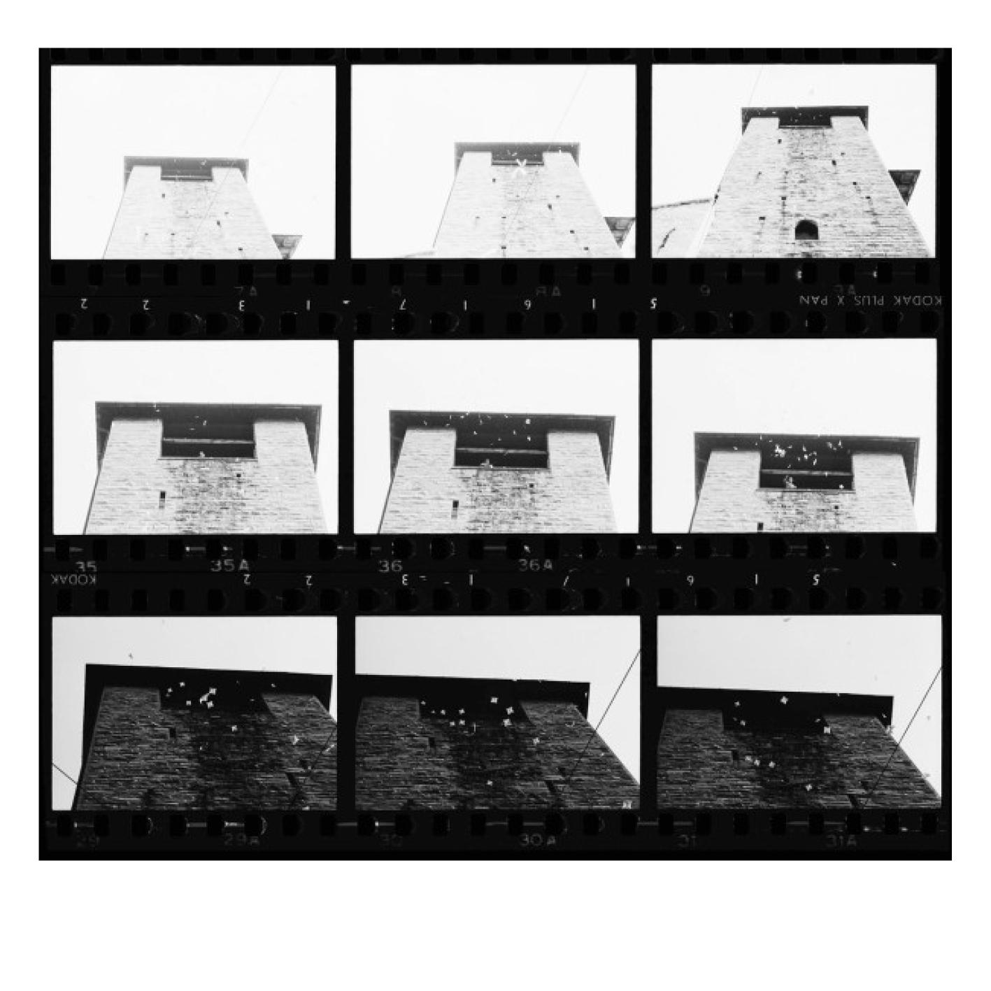 Ugo Mulas - Bruno Munari, Visualizzazione dell'aria, Campo urbano, Como, 1969