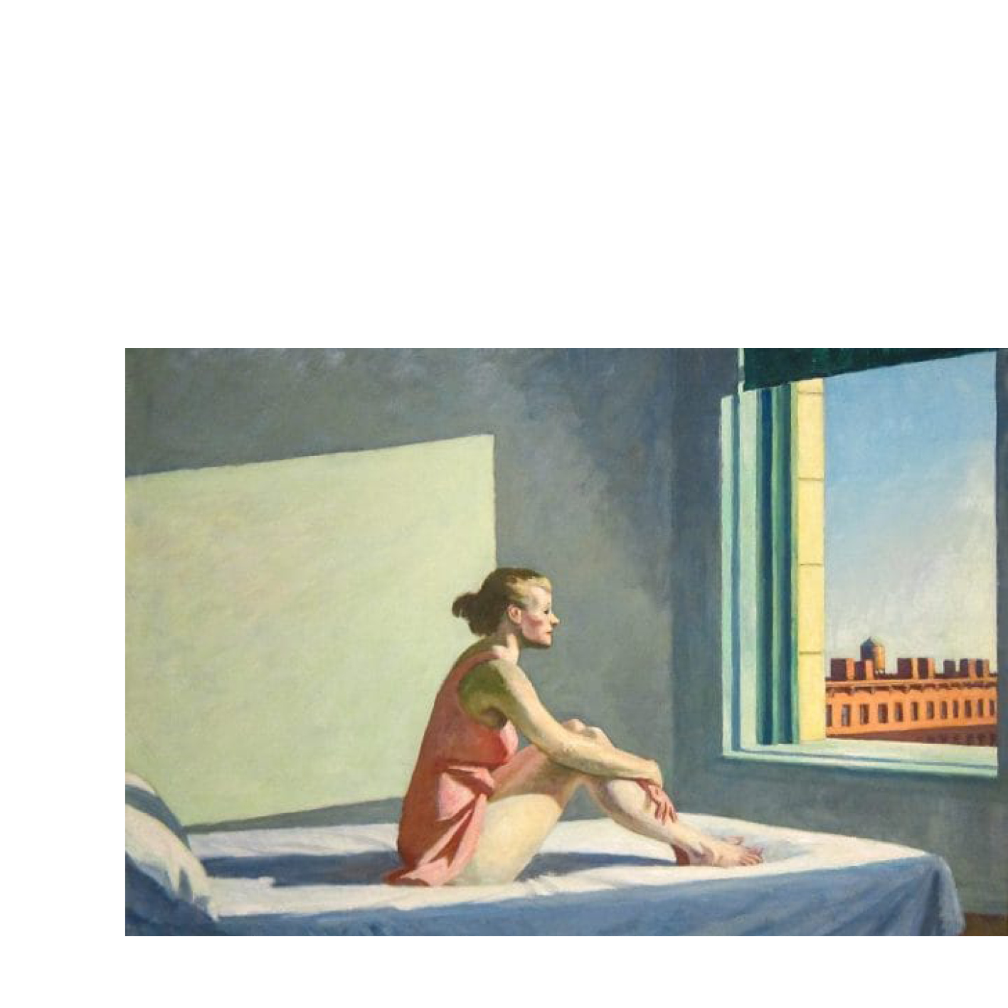AN IMAGE REPRESENTING YOUR QUARANTINE. Eduard Hopper, Morning Sun, (1956) ~ @jay______jey