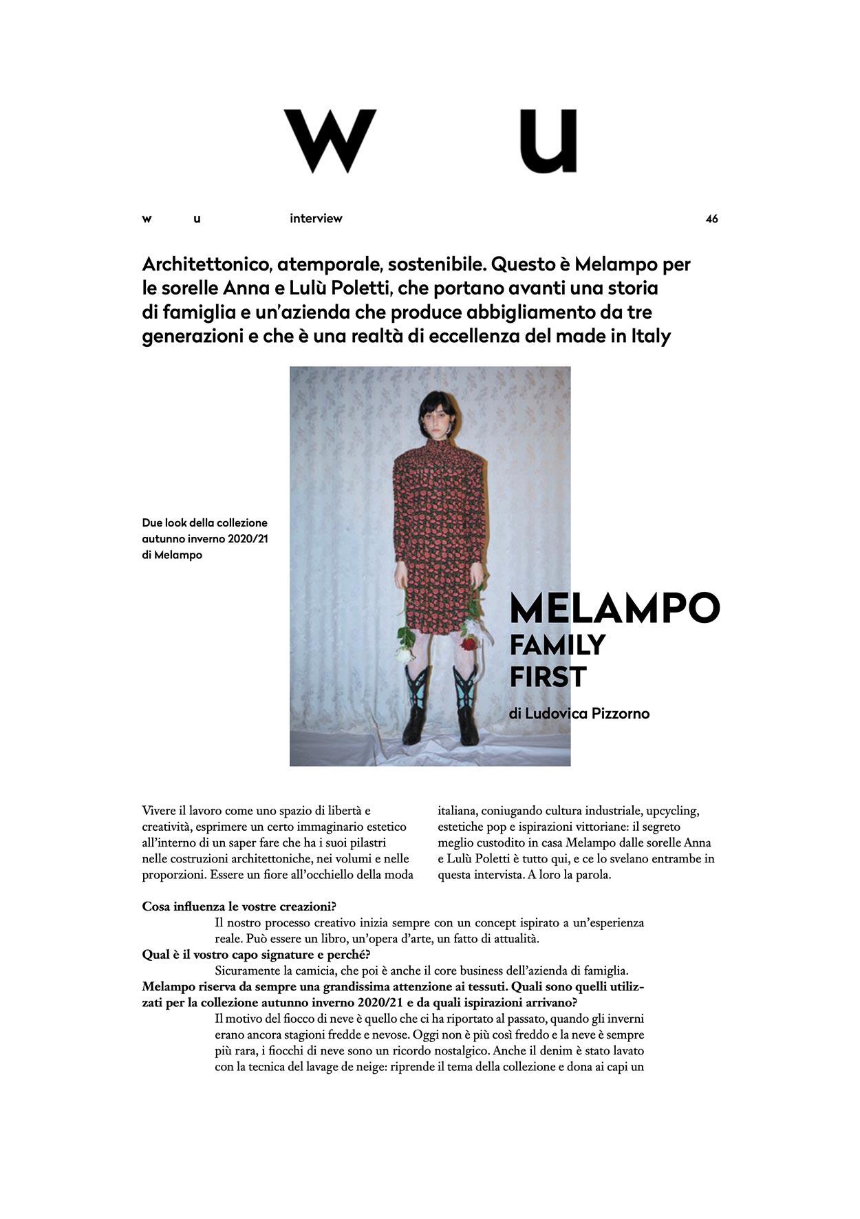melampo interview on wu magazine - photo 1