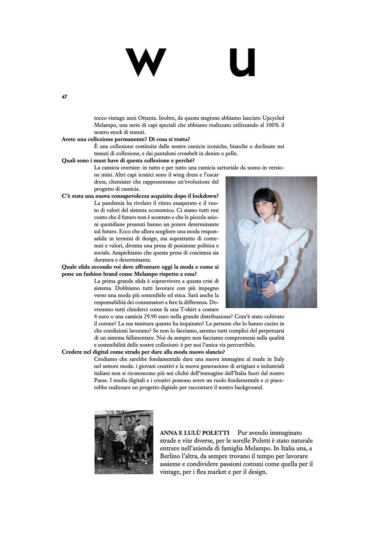 melampo interview on wu magazine - photo 2