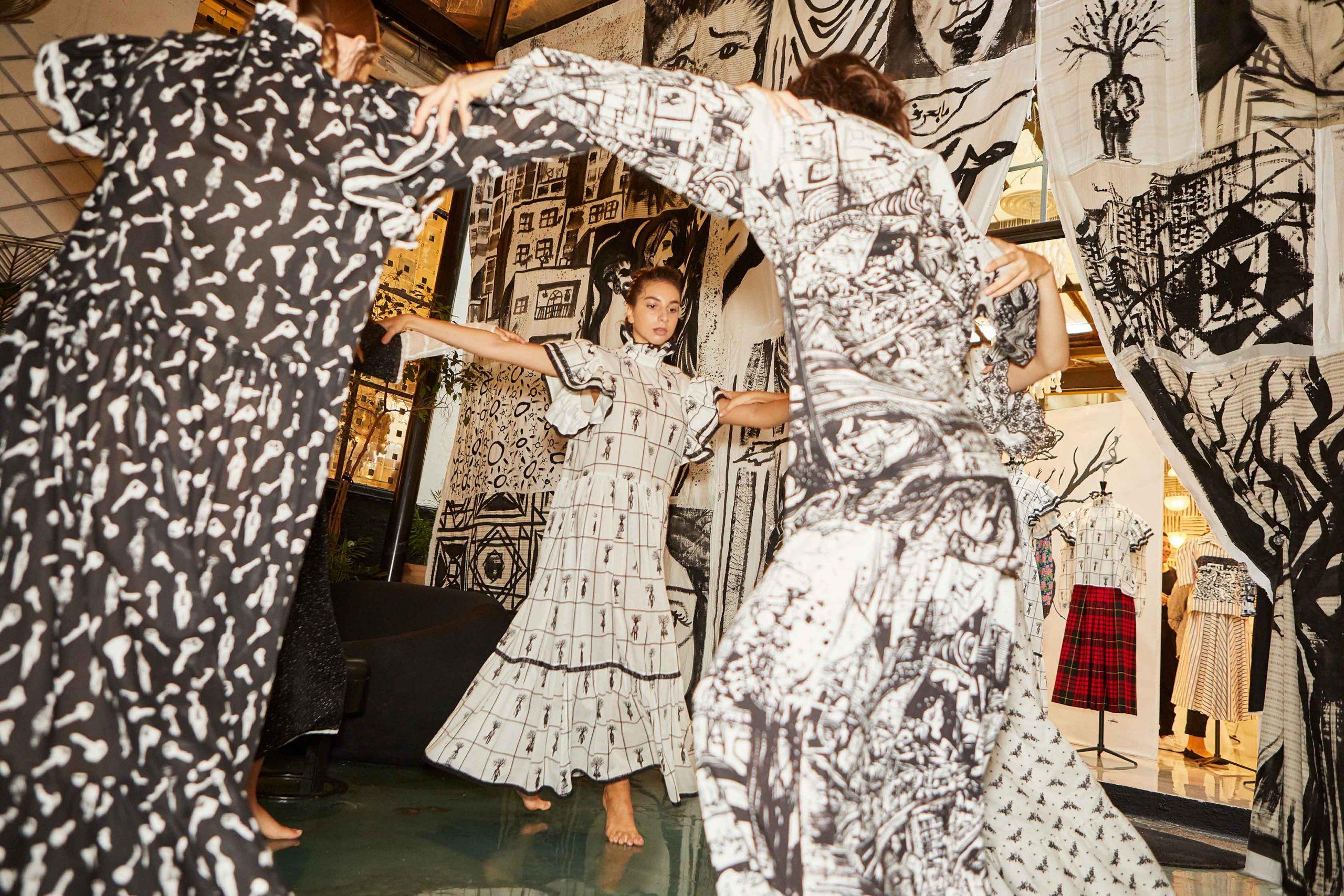 Melampo resilience collection at 10 Corso Como - installation - dancer - photo 3